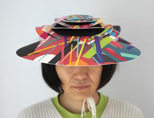 Sommerzeit Sonnenzeit Hut Aus Papier Papiere Art I Reste
