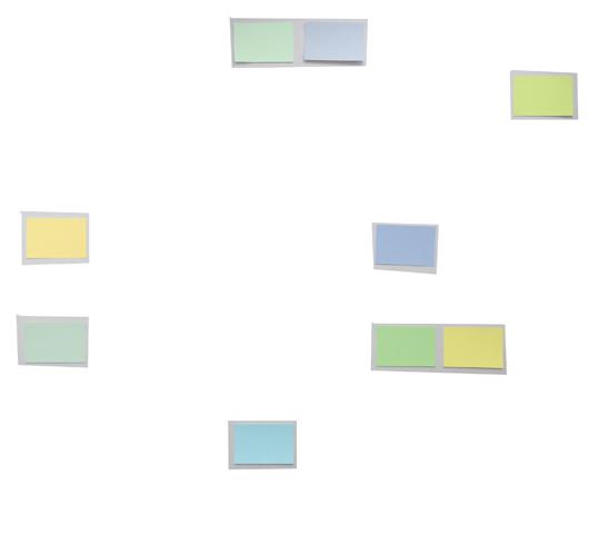 Akzente hell - Verteilung im Bild
