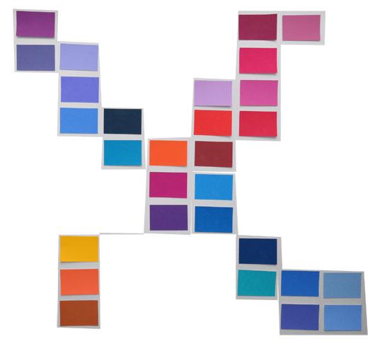 Diagonalen in blau und rot