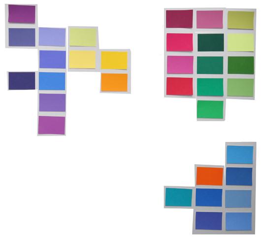 Komplementäre Farbpartien